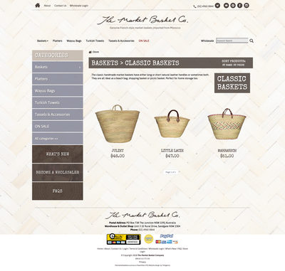 The Market Basket Co. product page design