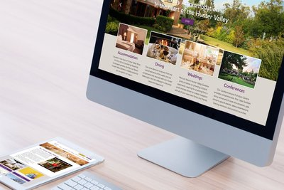 Mercure Resort Hunter Valley Gardens Website Design