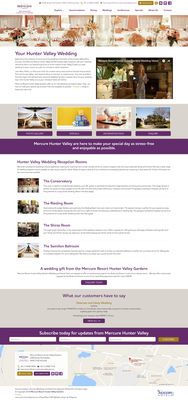 Mercure Hunter Valley Gardens subpage design